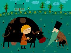 """Jack and The Beanstalk"" illustration no.1"