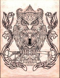 Owl Drawings | owl by creep1973 traditional art drawings animals 2012 2014 creep1973 ...