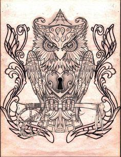 Owl Drawings | owl by creep1973 traditional art drawings animals 2012 2014 creep1973 ...