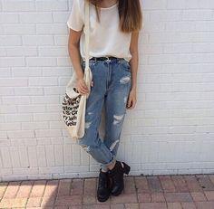 90's High Waist Distressed Boyfriend Jeans ALL SIZES by EverRad