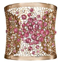 Cellini Jewelers ~ pink sapphires, diamonds, 18-karat rose gold #PurelyInspiration