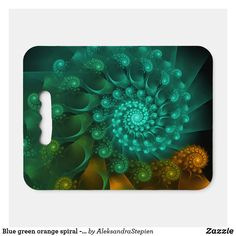 seat cushion created by AleksandraStepien. Stadium Seat Cushions, Stadium Seats, Logo For School, Geometric Flower, Green And Orange, Fractals, Light In The Dark, Fundraising, Spiral