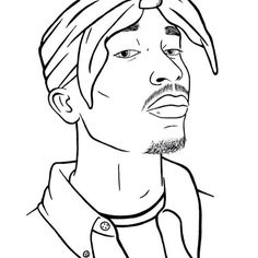 how to draw tupac face step by step
