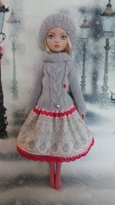 Hand made Outfit for Tonner Ellowyne Wilde, by penelope21*140 via eBay, SOLD 1/14/15 $36.99 (ships from Germany)