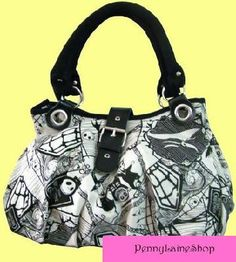 Brand New Nightmare Before Christmas Handbag Purse Bag Jack Skellington Buckle