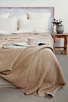 Indulge yourself with our linen blankets and bed throws. Soft, luxury linen blankets in a cozy waffle weave. Linen Bedding, Bedding Sets, Bed Linens, Mustard Bedding, Comforter, Home Bedroom, Bedroom Decor, Bedrooms, Tribal Bedding