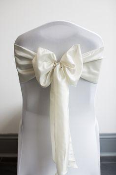 Ivory Taffeta chair cover sash