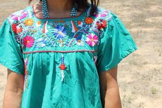 *SALE* Vintage Hand Embroidered Mexican Dress – Honeywood