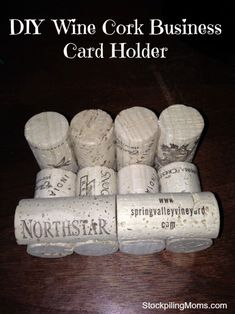 Wine cork business card holder crafts pinterest business diy wine cork business card holder is perfect for fathers day diy colourmoves