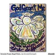 Serenity Prayer Angel Painting Art Postcards
