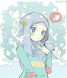 16 Wallpaper Gambar Kartun Wanita Muslimah Cantik Terbaru 2015