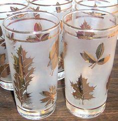 Gold leaf glasses.