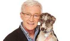 Paul OGrady and Twinkle the lurcher - I'd take both of them in! A genuinely lovely, kind man. POG should be, of course, the patron saint of Battersea Cat & Dog home and strays everywhere Battersea Dogs, Lurcher, Tv Reviews, Dog Pin, Rescue Dogs, I Love Dogs, Celebrity News, Hollywood, Actors