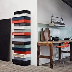 Sectional modular storage unit MONTANA LIVING SYSTEM by Montana Møbler #colour #interiors
