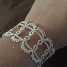 From smaks on Etsy: ♥. tiny treasures and small pleasures . Tatting Bracelet, Lace Bracelet, Tatting Jewelry, Lace Necklace, Tatting Lace, Woven Bracelets, Paper Animal Crafts, Crochet Motif, Crochet Patterns