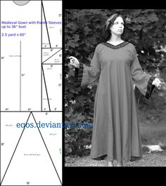 Pattern: Flared Sleeve Gown by eqos