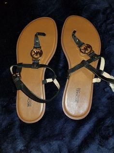 dac237516da3 New michael kors black leather strap sandals size 9 m