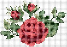 Graficos gratis de flores en punto de cruz08 Más