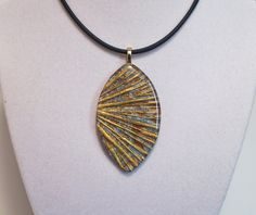 Polymer clay textured pendant gold blue #124 | Flickr - Photo Sharing!