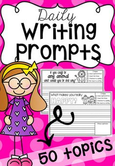 These Daily Writing Prompts are great for morning work, fast finisher activities and literacy centers. When I used them, my students were super excited to write in their booklets each day!The printables feature a mini self-check list in the corner to help students reflect on their writing to make sure they have used full-stops, capitals, correct spelling AND it encourages them to re-read their work <-- SUPER IMPORTANT!There are a number of writing topics which include everyday topics…