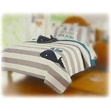 ivy hill home bedding   Whale Theme Print Quilt and Sham 3 Piece Bundle Set Full