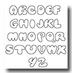 cool western fonts | Printable Bubble Letters :: Image 10