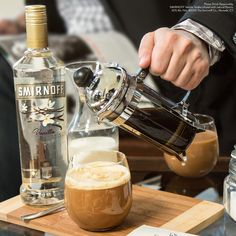 A week  in five inch #heels calls for a drink. End the week in #style with a Haute Coffee. #fashionhurts #fashion #newyork #nyc Just mix 1.5 oz Smirnoff Vanilla, 3 oz brewed coffee, 1 oz Milk, and a splash of simple syrup.