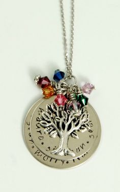 Hand Stamped Grandmother Necklace by 3LittlePixiesShoppe on Etsy, $65.00    This would be perfect for my mom ♥