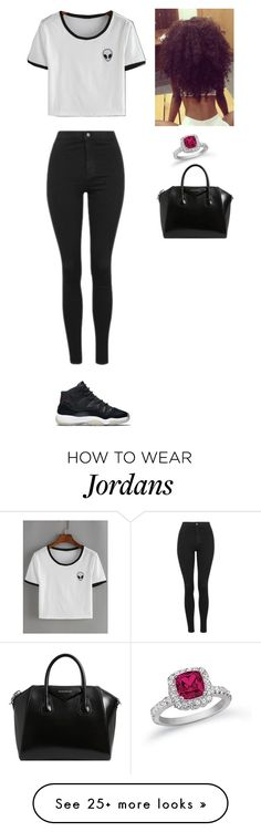 """""""2nd outfit for Friday"""" by mayawhite04 on Polyvore featuring WithChic, Topshop, NIKE and Givenchy"""