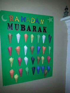 "Ramadan ""advent"" calender I made for my son"