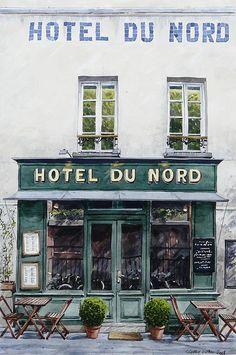ysvoice   ♕   Hôtel du Nord cafe in Paris   by © Thierry Duval