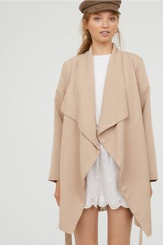 Coat with Draped Lap