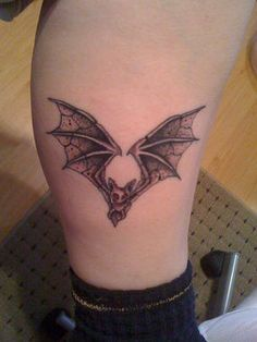 Aww, a wee vampire bat tattoo!