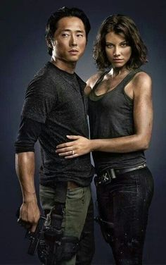 'The Walking Dead' Season 5 - Not gonna lie, Glen and Maggie are quite possibly my favorite tv couple of all time Glenn The Walking Dead, The Walk Dead, Walking Dead Tv Series, Walking Dead Zombies, Fear The Walking, Walking Dead Season, Glen And Maggie, Glenn Y Maggie, Rip Glenn