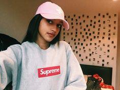 Grey Supreme Box logo girl places plus faces cap P+F