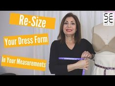 Re-Size Your Dress Form to Your Measurements - YouTube Draping Techniques, Sewing Techniques, Sewing Tutorials, Sewing Projects, Sewing Tips, Dress Form Mannequin, Sewing Spaces, Quick Crafts, Dress Stand