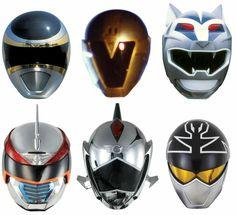 Silver Rangers Helmets - MMPR onwards