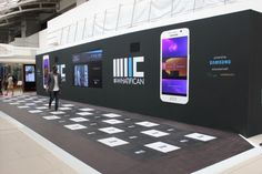 Experiential technology: Samsung worked with Pavegen to create this brand activation Exhibition Booth Design, Exhibition Display, Exhibit Design, Stage Design, Event Design, Interactive Exhibition, Samsung, Display Design, Design Museum