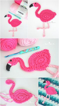 Crochet Ideas With Knitting Patterns - Diy And Crafts Crochet Birds, Cute Crochet, Crochet Motif, Crochet Designs, Crochet Crafts, Yarn Crafts, Crochet Flowers, Crochet Toys, Crochet Projects