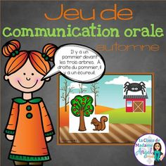 Jeu de communication orale!  Great oral communication game for your French students!  With a fall theme, this barrier game is an excellent resource for early French learners.