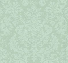 Tours Ice Floes (ZCDW03016) - Zoffany Wallpapers - A beautiful floral damask in frosty duck-egg blue and beige with a subtle metallic-bronze shimmer. An elegant aesthetic for modern and classic interiors. 68.6cm wide. Additional colourways also available. Please request sample for true colour match.