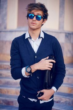 #blue #stylish #look