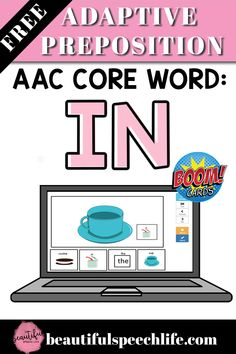 Get this FREE Boom Cards for AAC Core Word IN. Learn how to use my new FREE AAC Boom Cards for the core words WHERE and IN.