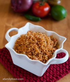 Mexican Rice - A Family Feast. A delicious complement to any Mexican-themed menu!