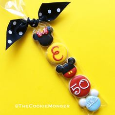 Disney Mini Cookies ~ We can turn any idea into awesome cookies!  Email thecookiemonger@outlook.com.