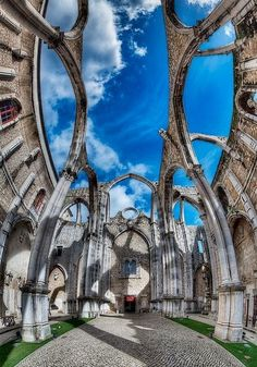 the convent, Ruinas do carmo, lisboa, portugal Places Around The World, Oh The Places You'll Go, Places To Travel, Travel Destinations, Places To Visit, Around The Worlds, Portugal Travel, Spain And Portugal, Portugal Trip