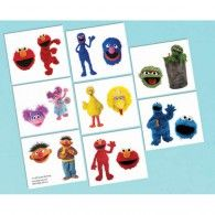 Sesame Street Tattoos - Party Supplies - 32 per Pack Elmo Party Supplies, Sesame Street Party Supplies, Birthday Supplies, Elmo Birthday, Birthday Party Themes, Birthday Ideas, Party Stores, Party Items, Street Tattoos