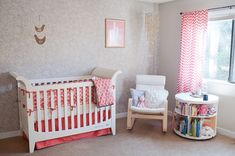 Kenley's Modern, Feminine Nursery in Coral and Gray