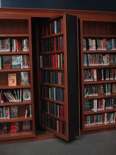 Hidden library door (very cool)