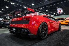 Lamborghini Gallardo Super Trofeo flexing on HRE P40SC kicks at the LA DUB Show Tour.